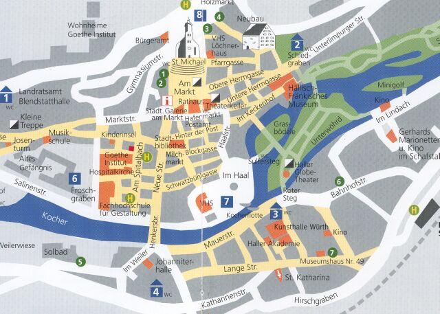 Stadtplan Schwabisch Hall Innenstadt